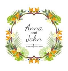 wedding invitation ornament for card vector image