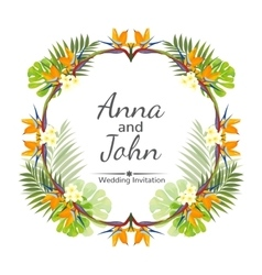 Wedding invitation ornament for the card vector