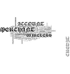 wireless merchant account text word cloud concept vector image