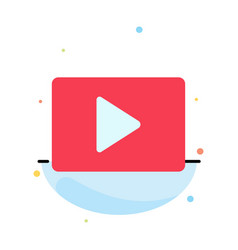 Youtube paly video player abstract flat color vector