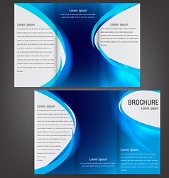 brochure business template design with blue vector image vector image