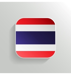 Button - Thailand Flag Icon vector image
