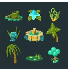 Landscape elements set vector