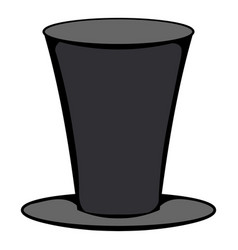 male black cylinder icon cartoon vector image
