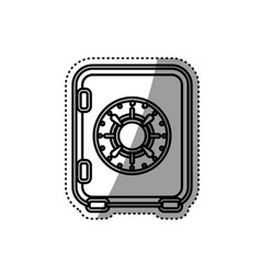 money strongbox deposit vector image