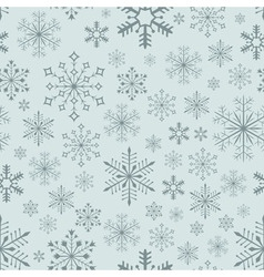 Seamless snowflake background vector image vector image