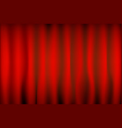 theater red curtain with spot lighting vector image