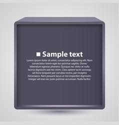 box banner information vector image