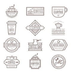 Coffee monogram icon vector image vector image