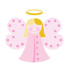 Cute angel in pink vector