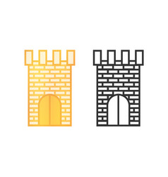 Icons of castle towers vector