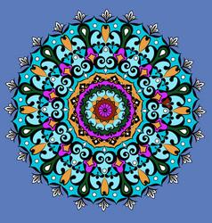 mandala round ornament patterngeometric circle vector image vector image