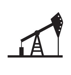 oil pump icon on white background oil pump sign vector image vector image