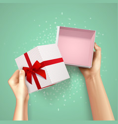 small gift package composition vector image vector image