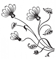 antique floral ornament engraving vector image vector image