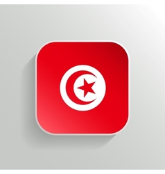Button - Tunisia Flag Icon vector image