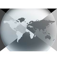 earth globe graphic vector image vector image