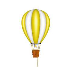 hot air balloon in orange and white design vector image vector image