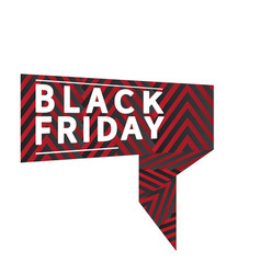isolated black friday label vector image