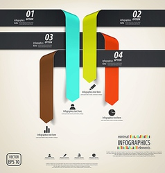 Minimal infographics design elements vector image vector image