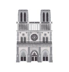 notre dame cathedral paris icon image vector image