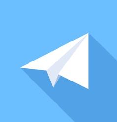 Paper Plane Flat Icon vector image
