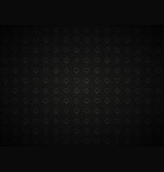 poker black background playing card symbols vector image