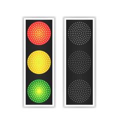 road traffic light realistic led panel vector image