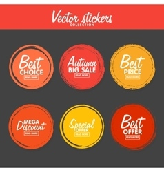 set of vintage colorful Autumn labels for vector image vector image