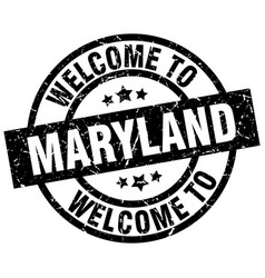 welcome to maryland black stamp vector image