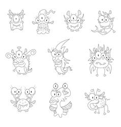 Cartoon monsters goblins ghosts vector image vector image