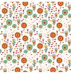 children seamless pattern of wild flowers vector image