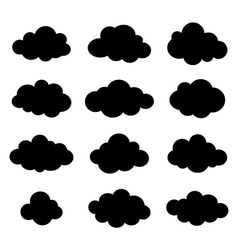 Clouds collection Cloud shapes pack vector image