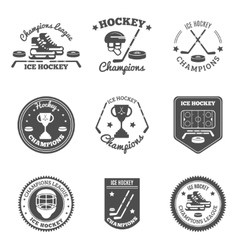 Hockey Labels Set vector image vector image