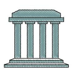 roman colums building vector image