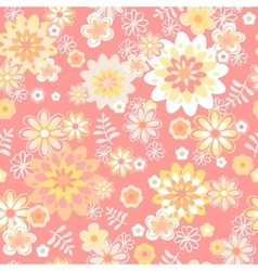 seamless floral background Flower vector image