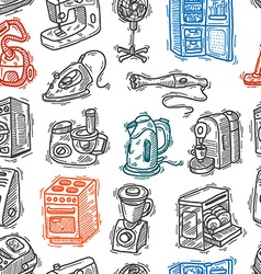 seamless pattern home appliances vector image