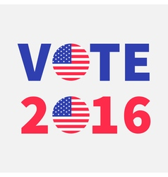Vote 2016 red blue text Badge button icon with vector image vector image