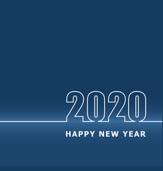 2020 happy new year with classic blue background vector