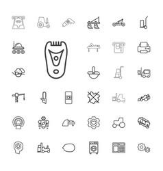 33 machine icons vector