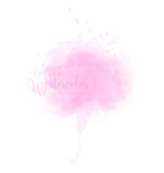 Abstract isolated soft pink watercolor splash vector