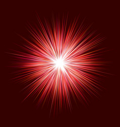 Abstract red explosion design on dark background vector