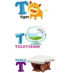 Alphabet letter - T vector