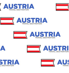 Austria travel destination national flag or vector