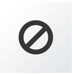 Ban icon symbol premium quality isolated vector