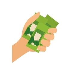 Billets in hand vector