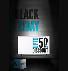 black friday electronics sale realistic vector image