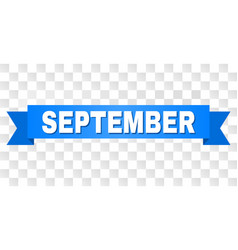 Blue stripe with september title vector