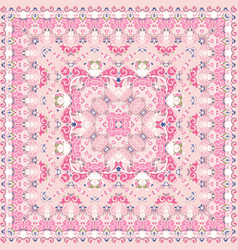 Bright pink colored handkerchief vector