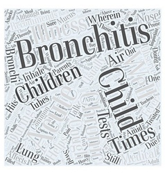 Bronchitis child Word Cloud Concept vector